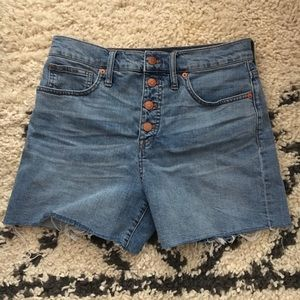 Madewell High-Rise Shorts: Button-Front Edition